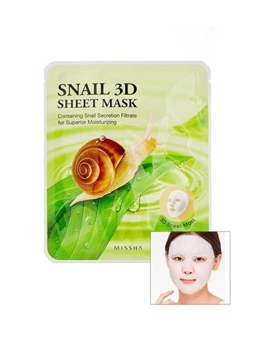 Missha Salyangoz Özlü Onarıcı Yaprak Maske (23G) Snail Healing 3D Sheet Mask Renksiz